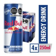 Red Bull Bebida Energetica 250ml 4pack 250 ml