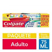 Cremas Dentales Triple Accion+Cepillo 75 ml