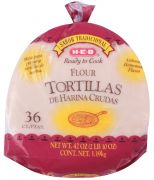 Tortillas Harina Cruda 36 pz