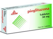 Pioglitazona 30 Mg 7 Tabletas Gen 7 pz
