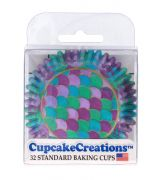 Capacillos Mermaid Scales Baking Cups