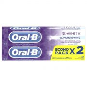Pasta Dental Oral B 3d White Glam 2 Pack 120 ml 2 pz
