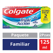 Crema Dental Triple Acción Familiar 125 ml