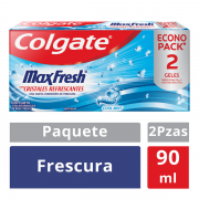 Crema Dental Max Fresh Cristales Refrescantes 90 ml