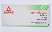 Montelukast Masticable 4 Mg 10 Tab Gen 10 pz