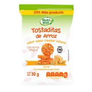 Tostaditas de Arroz Queso Cheddar Natural 30 gr