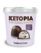 Ketopia Bomba de Cookies And Cream Cubierta con Ch 195 gr