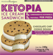 Ketopia Sandwich de Helado Cookie Dough 2 pz