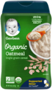 Organic Whole Grain Oatmeal Cereal 227 gr
