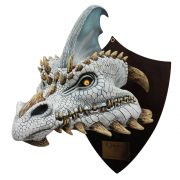 Cinder the White Dragon - Trophy, Decorativo De Licencia Original Nightmare Collection, por  Mario Chiodo´s